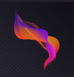 abstract luminous wavy color smoke shape with vector image