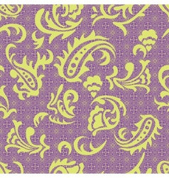 Abstract seamless pattern with curves vector image