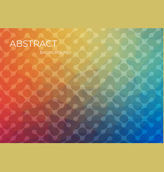 abstract vibrant bleb-shapes colorful background vector image