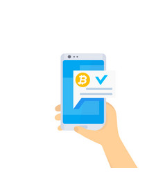 Approved bitcoin payment completed transaction vector