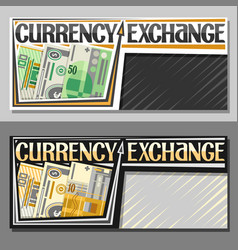 Banners for currency exchange vector
