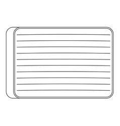 big mattress icon outline style vector image