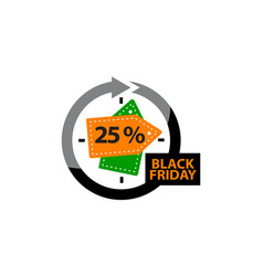 black friday discount 25 percentage vector image