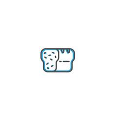 bread icon design gastronomy icon vector image