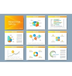 Colorful set of templates for multipurpose vector image