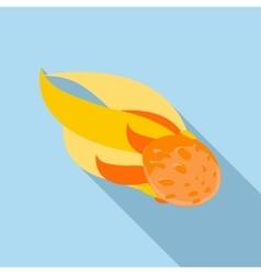 Comet icon flat style vector