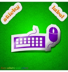 Computer keyboard and mouse icon sign Symbol chic vector image