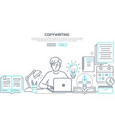 copywriting - modern line design style web banner vector image