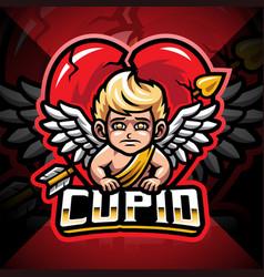 Cupid esport mascot logo design vector