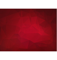 Dark red low poly grain background vector