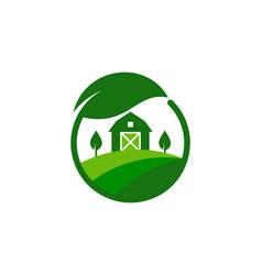 Eco farm logo icon design vector