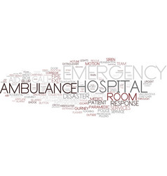 Emergency word cloud concept vector