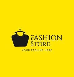 Fashion store template design vector