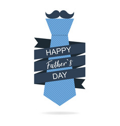 fathers day tie in flat design celebration day vector image