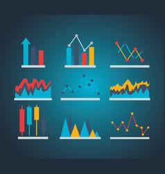 financial stock market vector image
