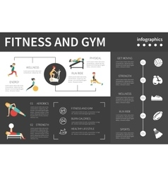 Fitness And Gym infographic flat vector