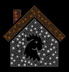 Flare mesh 2d cock house with spots vector