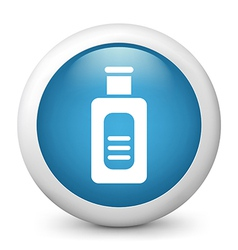 Flask glossy icon vector image