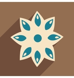 Flat with shadow icon and mobile application anise vector