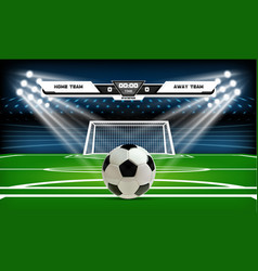 football or soccer playing field with set of vector image