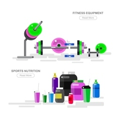 Gym design concept vector image