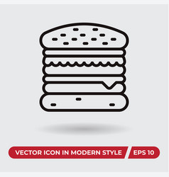 hamburger icon in modern style for web site and vector image