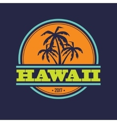 Hawaii 2017 label vector image