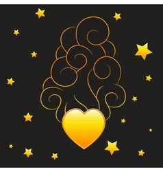 Heart with smoke vector image