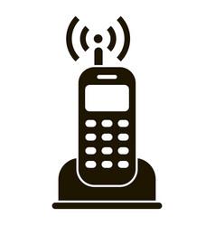 Home radio telephone icon simple style vector