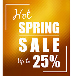 Hot Spring Sale up to 25 over polygonal mosaic vector image