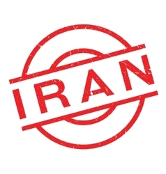 Iran rubber stamp vector