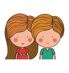 Isolated girl and boy cartoon design vector image