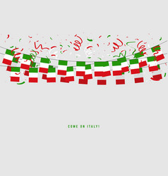 italy garland flag with confetti vector image