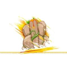 Lord Ganesha made of rock for Ganesh Chaturthi vector