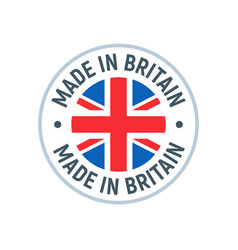 made in uk britain flag logo english brand vector image