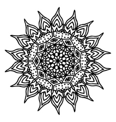 Mandala coloring page doodle vector