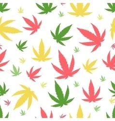 Marijuana background seamless patterns vector