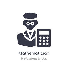 Mathematician icon isolated icon vector