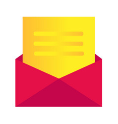 Message icon envelope - mail vector
