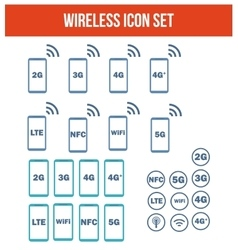 Mobile wireless telecommunications technology vector image