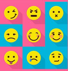 Mood change icons set flat style vector