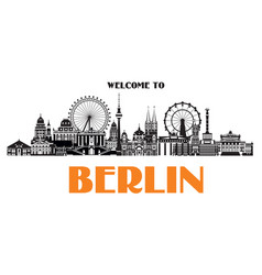 panoramic berlin vector image