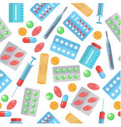 pharmacy seamless pattern vector image