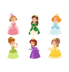 Princess set vector