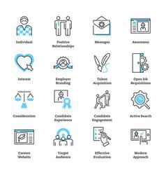 Recruitment marketing icon collection set vector