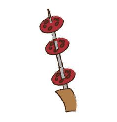 Salami picnic food image vector