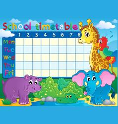 School timetable theme image 7 vector