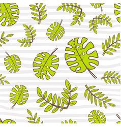 Seamless summer pattern bright cute cartoon style vector