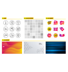 Search files debit card and fragile package icons vector