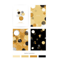 set of cards with blots set of cards with vector image